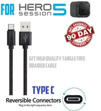 For GoPro Hero 5 Hero5 - 6FT LONG TYPE-C USB CABLE CHARGING POWER CORD SYNC WIRE