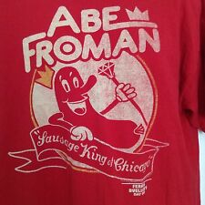 "FERRIS BUELLER - Abe Froman ""Sausage King Of Chicago"" Shirt XL CUBS! Broderick"