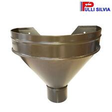 Tramoggia Imbuto Pluviale Alluminio Colore Marrone Ø100