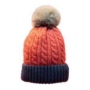 Powder Greta Women's Bobble Hat | Rose/Navy | SBoutique