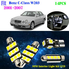 14Pcs 5050 Cool White 6K Interior Light Kit LED Fit 2001-2007 Benz C-Class W203