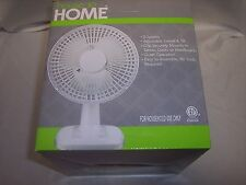 House to Home 2- speed , 6 Inch  Fan 2 in 1, Adjustable,  Desk or Clip on