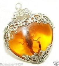 HOT SALE new Tibet silver amber scorpion necklace pendant