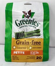Greenies Dental Treats Grain-Free Petite For Dogs 20 Count (15-25 lbs) SEE DESC.