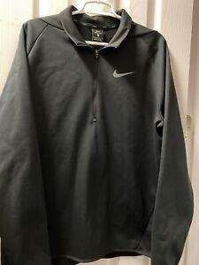 NIke Men's Dri-Fit 1/4 Zip Pullover Jacket Men's Large Black