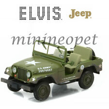 GREENLIGHT 86311 ELVIS PRESLEY US ARMY JEEP WILLY'S COLD WAR ERA M-38A1 1/43