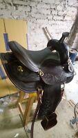 16'' western  double tt pleasure style brown saddle