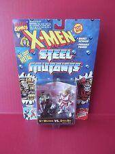 """X-MEN STEEL MUTANTS """"SPY WOLVERINE VS OMEGA RED"""" 2.5""""IN DIE CAST FIGURES 1994"""