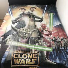 Star Wars Reversible Full Comforter 85x77 The Clone Wars Yoda Clone Troopers USA