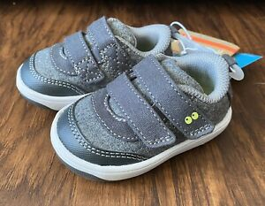 Baby Boys Surprize by Stride Rite Norman Gray Sneakers Shoes Size 3