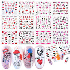 Designs Lips Sexy  DIY Manicure Valentine Water Transfer Decals Nail Stickers