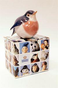 ROYAL COPENHAGEN Robin #127 Hand Painted Porcelain Figurine w Original Box C1908
