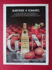 1983 Seagram's Extra Dry Gin - Surprise a tomato. Color AD