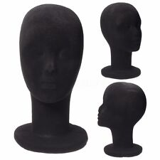 11'' Black Styrofoam Foam Mannequin Manikin Head Model Wig Glasses Display Stand
