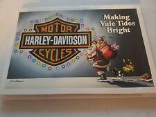 HARLEY DAVIDSON CHRISTMAS CARDS #X472 MAKING YULE TIDES BRIGHT HARLEY (10)