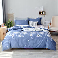 Floral Blue Single/Double/Queen/King Bed Doona/Duvet/Quilt Cover Set 100% Cotton