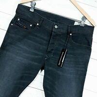 ⭐ Mens Diesel Tepphar regular Slim carrot black denim jeans R4EL8 size W34 L32