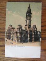 Vintage Postcard City Hall Building Philadelphia Pennsylvania