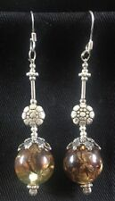 Baltic Amber & Silver .925 drop dangle hook earrings hoop feeanddave