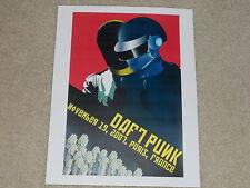 "Daft Punk 2007 Tour Mini-Poster, Paris, France 8"" by 11"" Ready to Frame!"