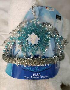 Elsa Tiara Disney Frozen Princess Fancy Dress Halloween Child Costume Accessory