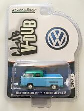 2016 GreenLight GREEN MACHINE CHASE MODEL 1968 VOLKSWAGEN T2 DOUBLE CAB - mint!