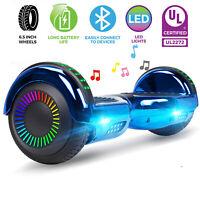 6.5'' Self Balance Scooter Hover Board W/ Bluetooth Speaker LED no Bag For Kids