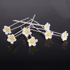 20Pcs Wedding Bridal White Daisy Flower Hair Pins Chrysanthemumm Hair Accessory