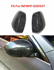 Fit For INFINITI G25 G37 Carbon Fiber Side Mirror Covers Replacement Gloss Refit