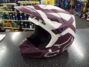 FOX V2 HELMET ADULT PREME WHITE / PURPLE XL MX MOTOCROSS ENDURO