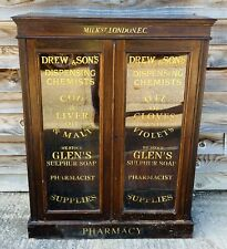 LOVELY ANTIQUE 19TH CENTURY APOTHECARY SHOP GLAZED DISPLAY CABINET, C1900