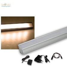 4 Set LED Listello leggero angolare in alluminio bianco caldo + Trasformatore