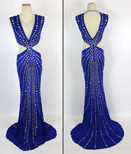 Jovani USA Designer NWT Long Royal Size 2 Prom Formal Evening Gown Dress New