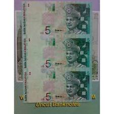 MALAYSIA 5 Ringgit 3 in 1 UNCUT with FOLDER UNC