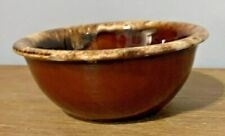 Vintage Hull USA Brown Drip Pottery Oven-Proof 5.25 inch Cereal Bowl