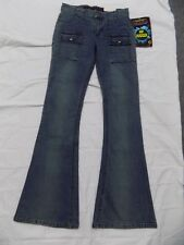 Mudd Blue Jeans Hip Hugger Bell Bottom Stretch Denim Junior 9 30x30 4dd180