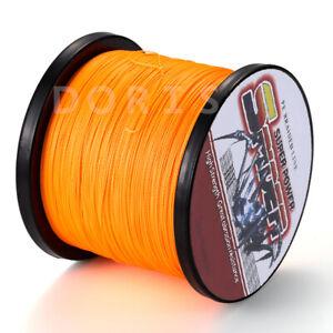 100M/300M/500M/1000M Orange 6-300LB Dyneema 100%PE Braid Fishing Line Pro Spider