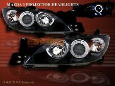 2004 2005 2006 2007 2008 MAZDA 3 SEDAN CCFL HALO PROJECTOR HEADLIGHTS JDM BLACK