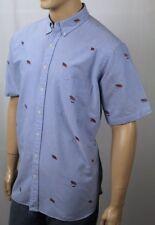 Ralph Lauren Blue Classic Dress Shirt Patriotic USA Flags NWT $125
