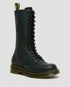 Dr. Martens Women's 1B60 Lace Up Knee High Black Nappa Leather BNWB