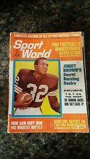 New listing Sport World Magazine October 1965  Jim Brown cover