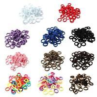 50Pcs Kids Girl Lady Elastic Rubber Hair Bands Ponytail Head Holder Rope Ti V9S4
