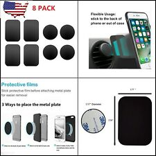 8pcs Metal Plates Sticker Replace For Magnetic Car Mount Magnet Phone Holder USA