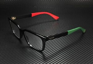 GUCCI GG0160O 003 Rectangular Square Black Demo Lens 53 mm Unisex Eyeglasses