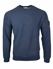 Stone Island Blue Dust Treatment Crew Neck Sweatshirt - 62290