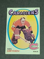 Ken Dryden Rookie Montreal Canadiens 1971-72 Topps #45 NM Centered Sharp