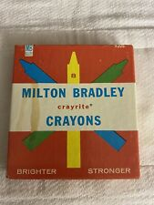 Vintage 1950s Milton Bradley Crayrite Crayons Brighter And Stronger most unused