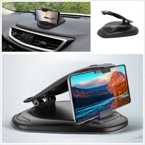 Car Dashboard Mount Phone Holder Clip Adjustable Black Fit For iPhone Samsung