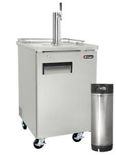 Kegco Commercial Grade Homebrew Kegerator Single Tap Stainless Steel with Keg
