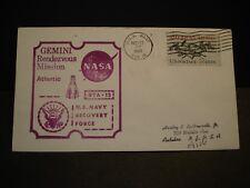 USS WASP CVS-18 Naval Cover 1966 NASA GEMINI Recovery GTA-12 SPACE Cachet